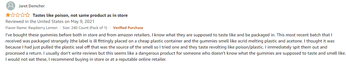 amazon review of natural calm vitality
